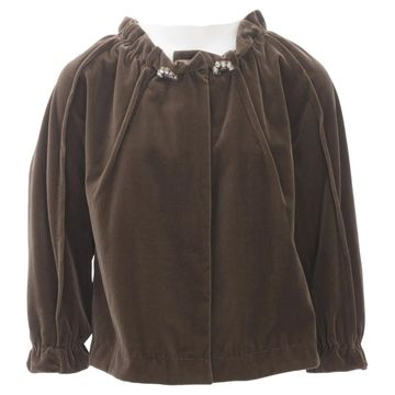 Vera Wang Brown Silk Tops