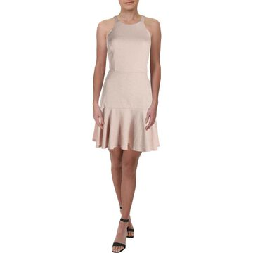 Trixxi Womens Halter Sparkle Flounce Dress