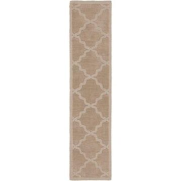 Artistic Weavers Central Park Abbey 2'3 x 10' Handcrafted Runner in Tan