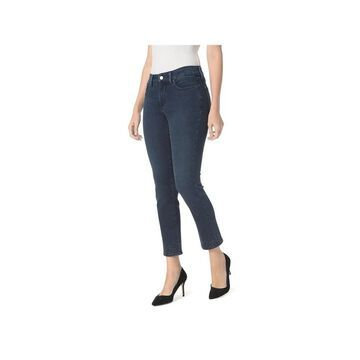 NYDJ Womens Petites Ankle Jeans Embroidered Embellished