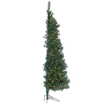 Sterling 7' Tiffany Pine Wall Artificial Christmas Tree