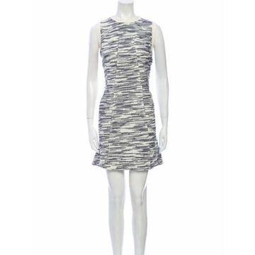 Printed Mini Dress White