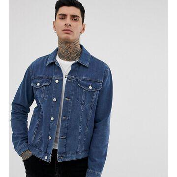 Reclaimed Vintage oversized denim jacket in mid blue