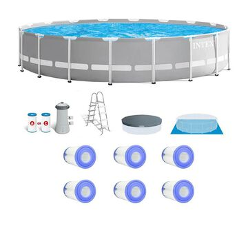 Intex 18-ft x 18-ft x 48-in Round Above-Ground Pool | 142025