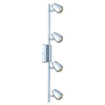 EGLO Corbera 4-Light Track Light Kit in Polished Chrome