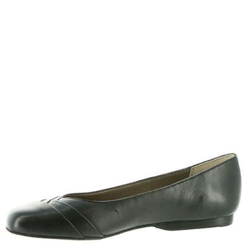 ARRAY Womens Crystal Leather Square Toe Ballet Flats