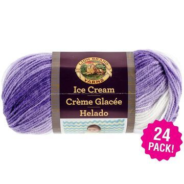 Lion Brand Ice Cream Yarn 24/Pk-Grape - Purple