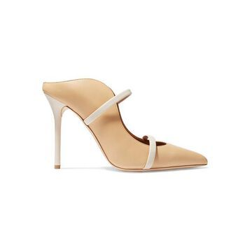 Malone Souliers - Maureen 100 Leather Mules - Sand