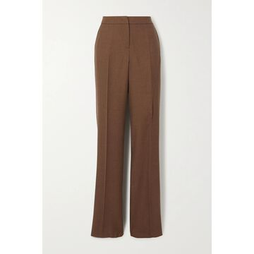 Max Mara - Bea Camel Hair And Silk-blend Straight-leg Pants - Brown