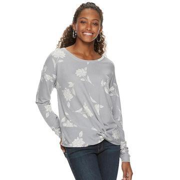 Juniors' Candie's Twist Front Sweatshirt