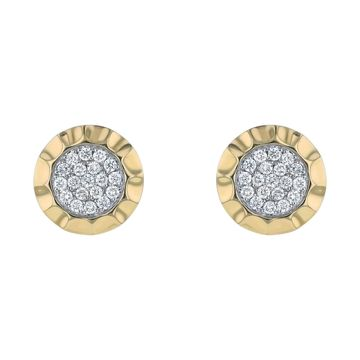 14K Yellow Gold 1/2 ct. TDW Diamonds Earrings by Beverly Hills Charm