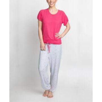 Muk Luks T-Shirt & Printed Pants Pajama Set