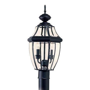 Sea Gull Lighting Lancaster 120-Watt 21.5-in Black Traditional Post Light | 8229-12