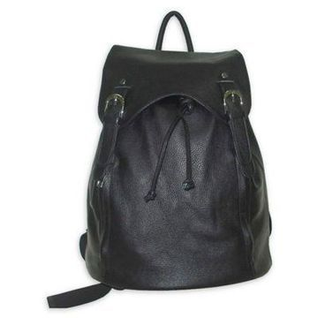 Amerileather Clementi Leather Backpack in Black