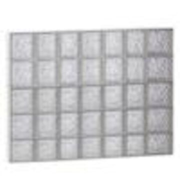 REDI2SET Ice Glass Pattern Frameless Replacement Glass Clear Block Window (Rough Opening: 46-in x 38-in; Actual: 44.25-in x 36.75-in)