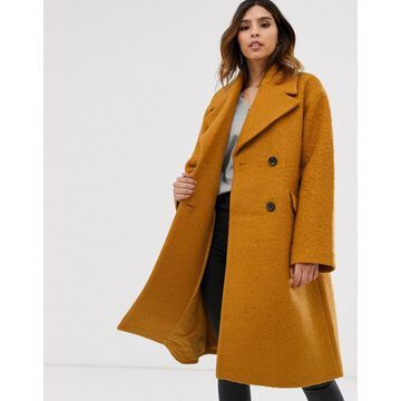 Y.A.S oversized boucle coat-Brown