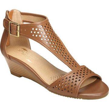 Aerosoles Women's Sapphire Sandal Dark Tan Leather