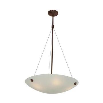 Access Lighting 23073 Noya 4 Light Bowl Shaped Pendant Bronze / White Indoor Lighting Pendants