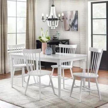 Simple Living 5-piece Vinturi Dining Set (White)