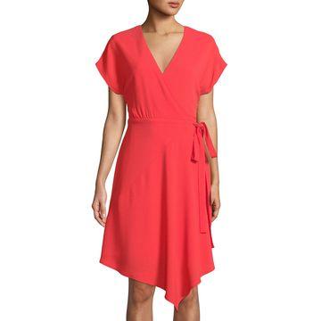 Wrap-Front Drop Shoulder Dress
