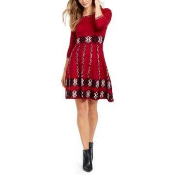 Taylor Printed Sweater Dress