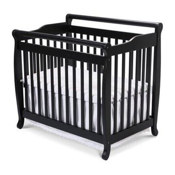 DaVinci Emily 2-in-1 Mini Crib and Twin Bed in Ebony Black