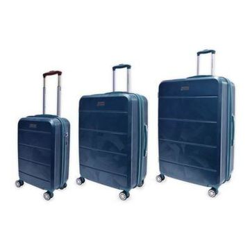 Adrienne Vittadini Brussels 3-Piece Hardside Spinner Luggage Set in Teal