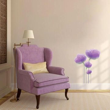 Purple Flowers Printed Wall Decal