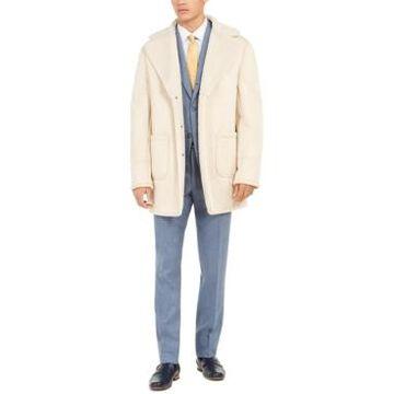 Tallia Men's Faux-Fur Solid Overcoat