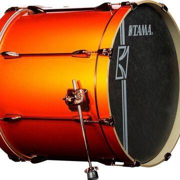 Superstar Hyper-Drive SL Bass Drum with Black Nickel Hardware 22 x 18 in. Orange Metallic
