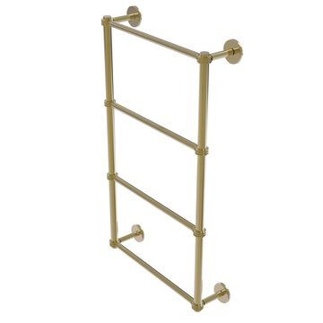 P1000-28D-36-UNL Prestige Skyline Collection 4 Tier 36 in. Ladder Towel Bar with Dotted Detail, Unlacquered Brass
