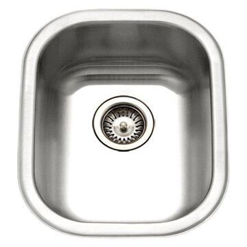 Houzer CS-1407-1 Club Series Undermount Medium Bowl Bar/Prep Sink