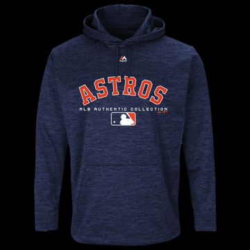 Majestic MLB Player On Field Hoodie - Houston Astros - Team Navy, Size One Size
