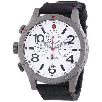 Nixon Men's 48-20 Chrono Leather Watch A363486