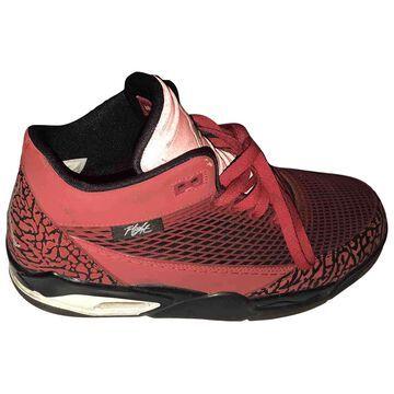 Jordan \N Red Rubber Trainers