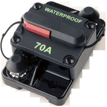SeaSense Surface Mount Waterproof High Amp Circuit Breaker with Manual Reset, 70A
