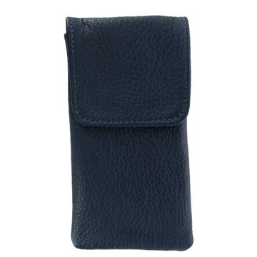 CTM Leather Soft Eyeglass Case with Holster Clip