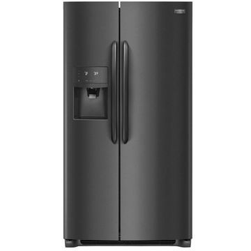Frigidaire Gallery 25.5-cu ft Side-by-Side Refrigerator with Ice Maker (Fingerprint-Resistant Black Stainless Steel) Energy Star