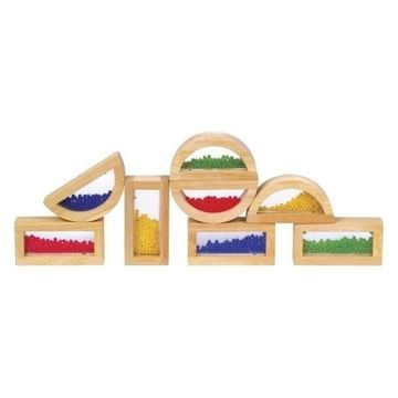 Guidecraft Hardwood Rainbow Blocks, Crystal Bead