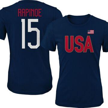 Outerstuff Men's USA Soccer Megan Rapinoe #15 Player Navy T-Shirt