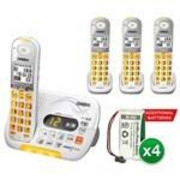 Uniden D3097-4 With additional Battery DECT 6.0 Amplified Cordless Pho