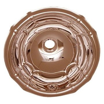 Round Fluted Design Drop-In Basin With Overflow & 1 1, 4 Center Drain