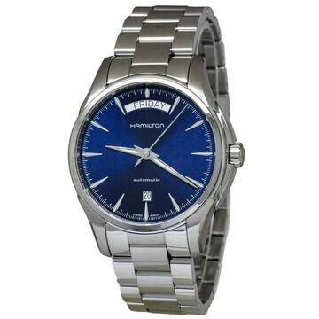 Hamilton Men's H32505141 'Jazzmaster' Automatic Stainless Steel Watch (Sapphire - Sapphire - 50 Meters - Three Hand - 9 Inch - Blue - Analog - 40mm -