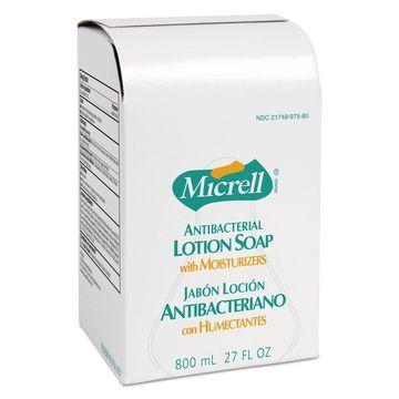 GOJO MICRELL Antibacterial Lotion Soap Refill Liquid Light Scent 800mL 12/Carton