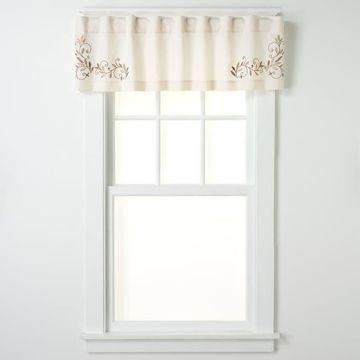 CHF Scroll Leaf Tailored Window Valance - 58'' x 14''