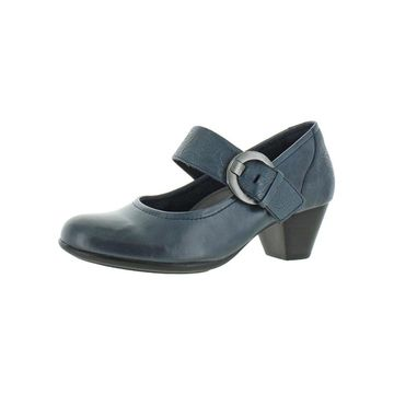 Earth Womens Noble Mary Jane Heels Leather Cushioned