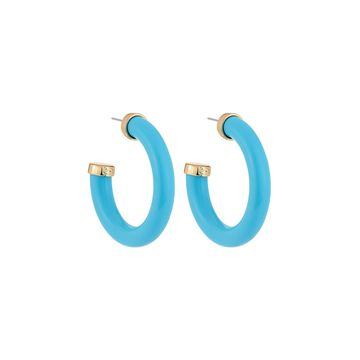 Large Hoop Earrings, Turquoise
