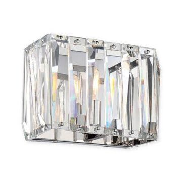 Metropolitan Coronette 1-Light Bath Wall Sconce in Chrome with Crystals