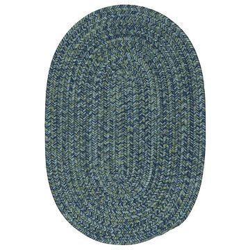 Colonial Mills Carrington Tweed Indoor Outdoor Rug, Blue, 7Ft Rnd