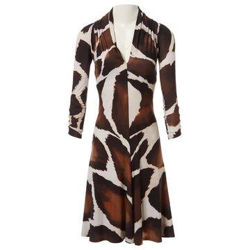 Roberto Cavalli Brown Polyester Dresses